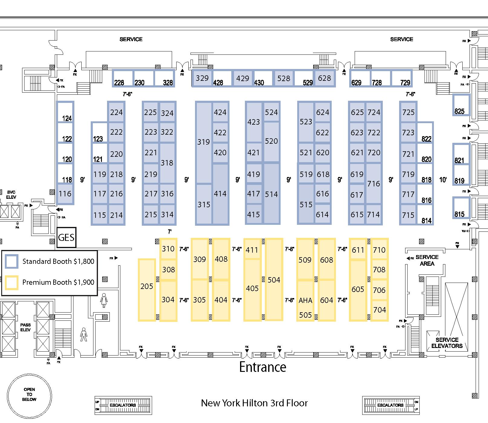 exhibit hall floor plan aha