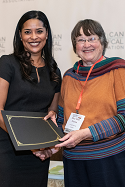 Mary Beth Norton presents the Wesley-Logan Prize to Monique A. Bedasse.