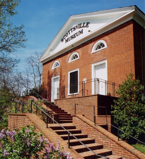 The Scottsville Museum is housed in an 1846 building that was formerly a Disciples of Christ church. Courtesy of Connie Geary, Scottsville Museum.