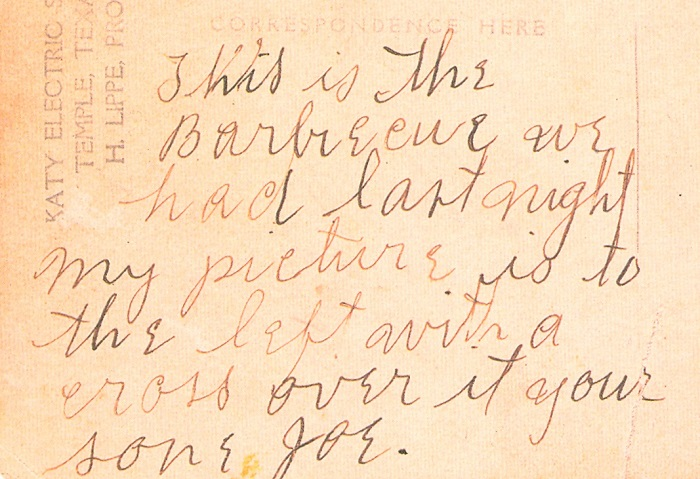 From the obverse of a photo postcard depicting the lynching of Jesse Washington. Wikimedia Commons