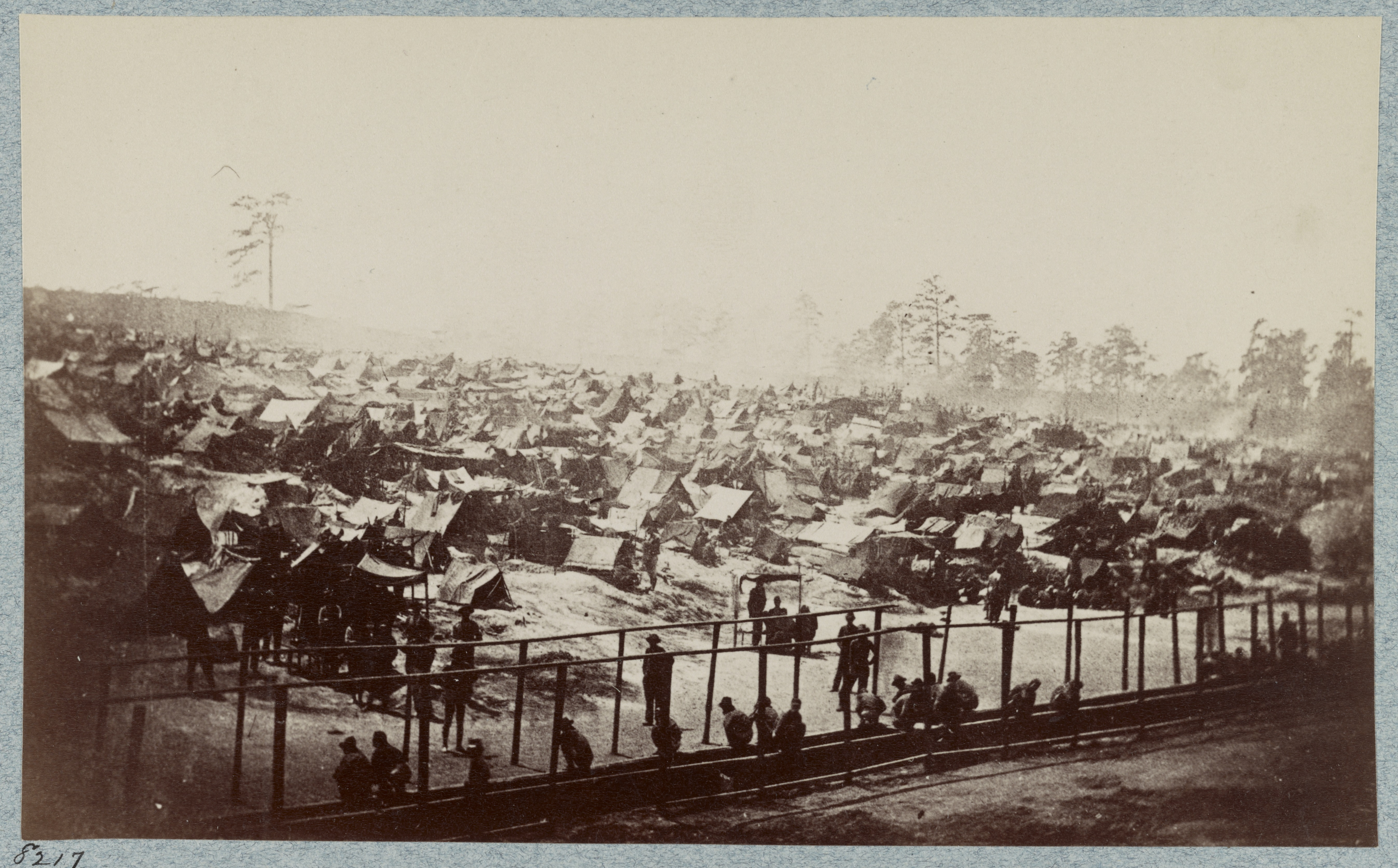 When Andrew J. Riddle photographed the prison in 1864, more than 33,000 prisoners were held on 26 acres. Library of Congress