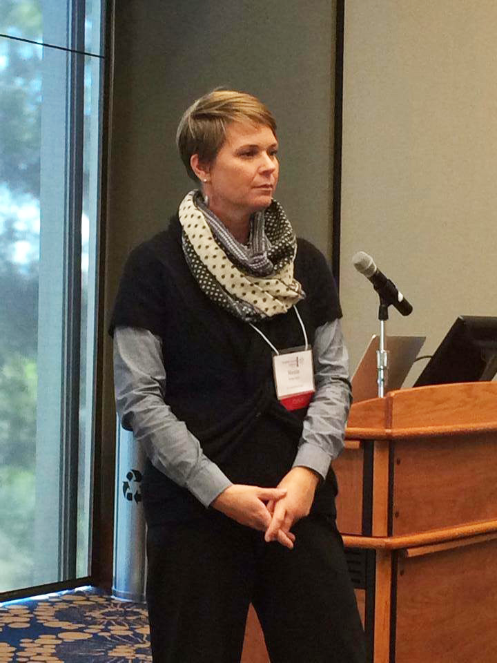 Nicole Gilbertson gives a presentation to educators on history assessment, November 2015. Courtesy California History & Social Science Project
