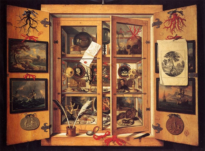 Domenico Remps, Cabinet of Curiosities (1690s). Wikimedia Commons
