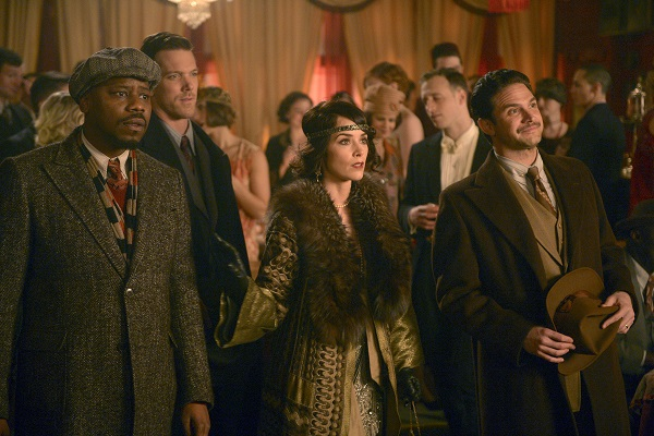 Rufus (Malcolm Barrett) and Lucy (Abigail Spencer) team up with a young Ernest Hemingway (Brandon Barash) in a recent episode of Timeless. Sergei Bachlakov/NBC