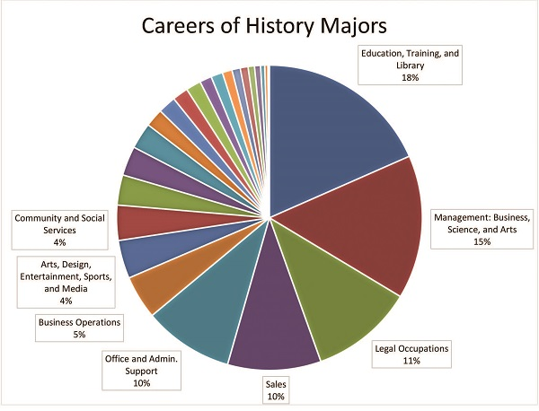 Fig. 1. Data source: ACS 2010–14 5-year Public Use Microdata Sample (PUMS). Includes individuals who stated they were in full-time employment, between the ages of 25 and 64, had achieved a bachelor's degree or higher, and had either history or US history as the field of study for their bachelor's degree.