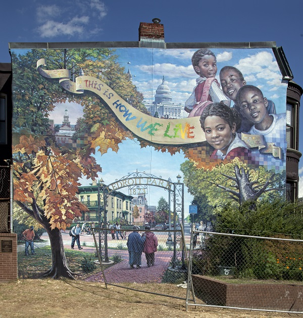 The spirit of LeDroit Park, captured in a neighborhood mural. Carol M. Highsmith/Library of Congress