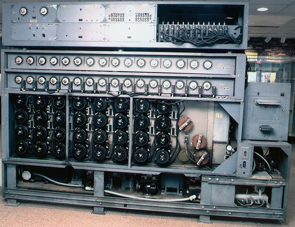 US Navy Bombe used to decrypt messages from the German Enigma machine during World War II. National Security Agency/Wikimedia Commons