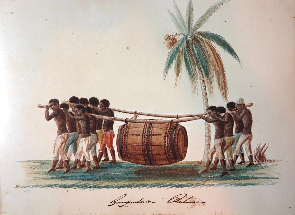 "<span style=""font-style: normal;"">Ganhadores</span> (""earning slaves"") in Bahia. This watercolor has been attributed to Maria Graham, who spent 1823–25 in Brazil. Courtesy João Reis"