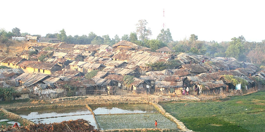 The Kutapalong refugee camp in Bangladesh.