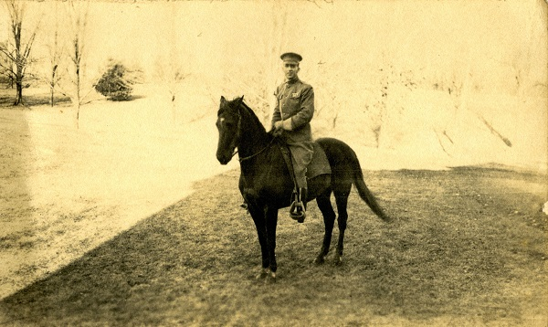 A photo of a man on horseback from the Joseph F. Ware Collection.