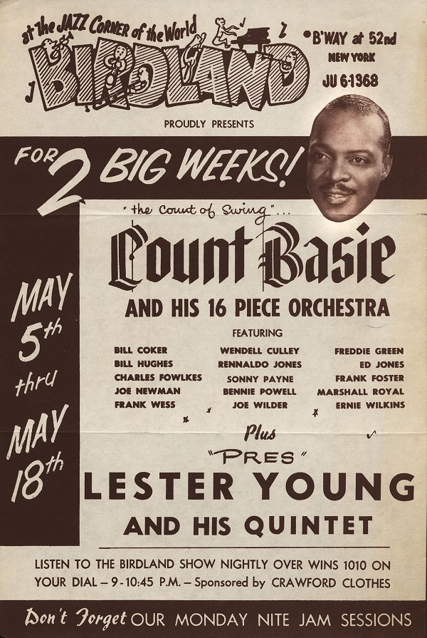 A 1955 handbill advertises live shows for audiences and jam sessions for musicians.