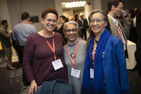 Elizabeth Todd-Breland, Janette Gayle, and Darnella Davis at the Committee on Minority Historians' Reception at AHA19.