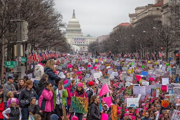 The 2017 Women's March in Washington, DC.
