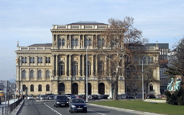 The headquarters of the Hungarian Academy of Sciences in Budapest.