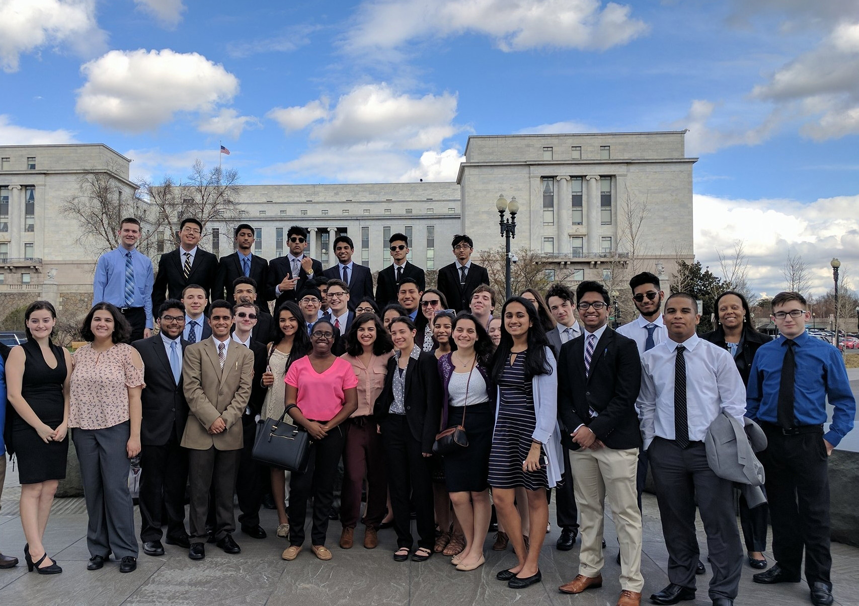 Students from Hightstown High School in New Jersey visit Washington, DC, to advocate for their bill.