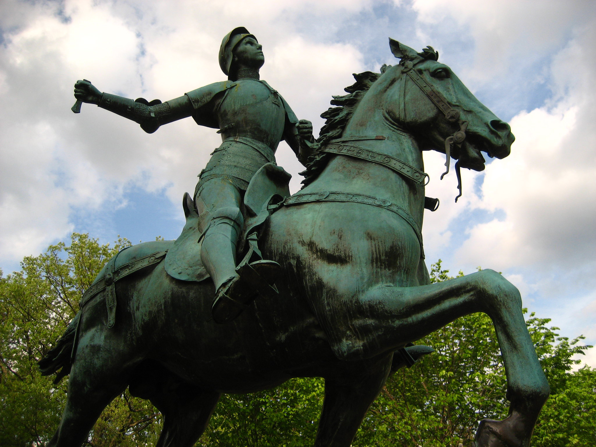 Joan of Arc is depicted in statues around the world, like this one in Washington, DC. Yet students are not always aware that she was a historical, rather than fictional, figure.