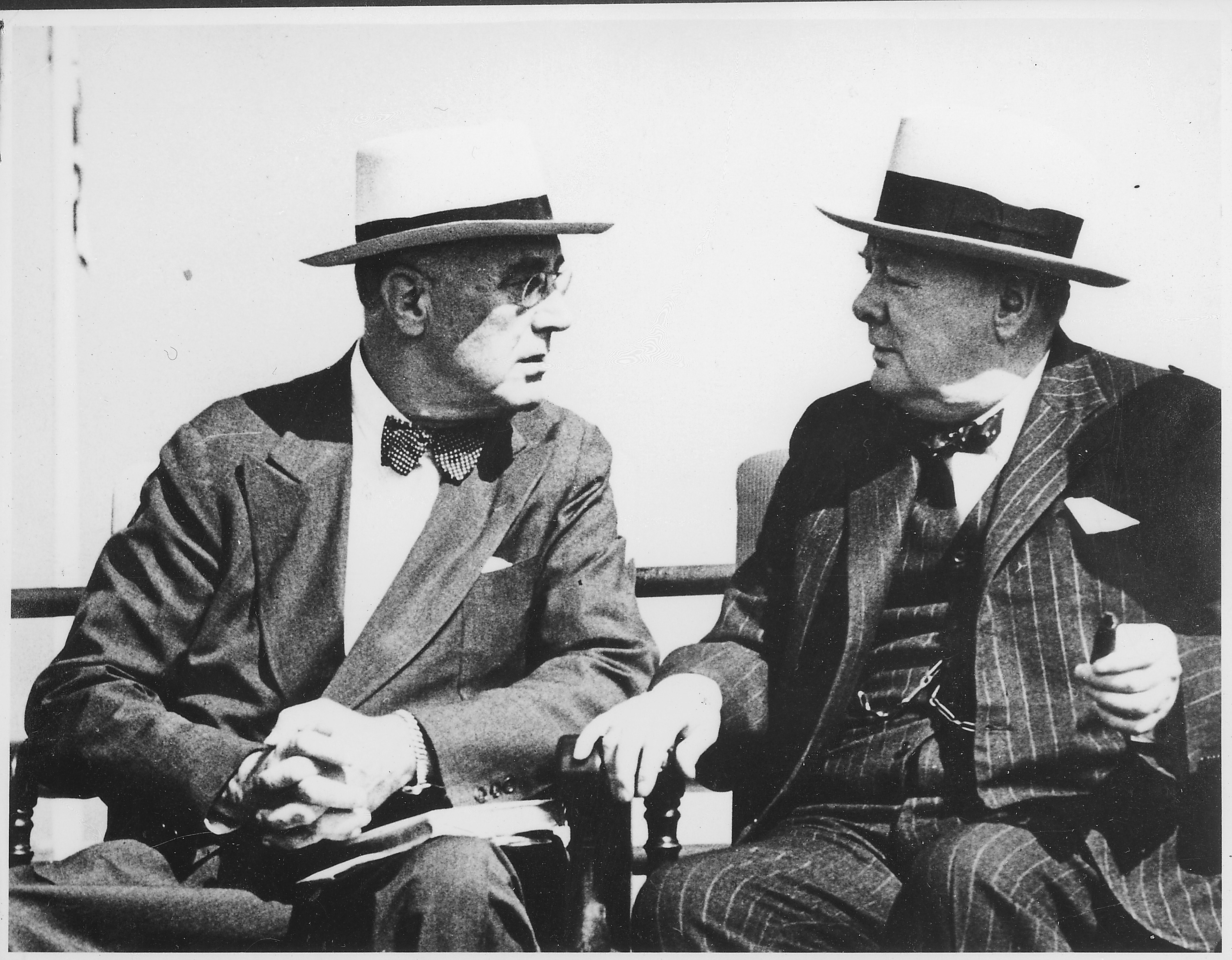 After an op-ed about Franklin D. Roosevelt (left) and Winston Churchill, John Broich faced intense backlash.