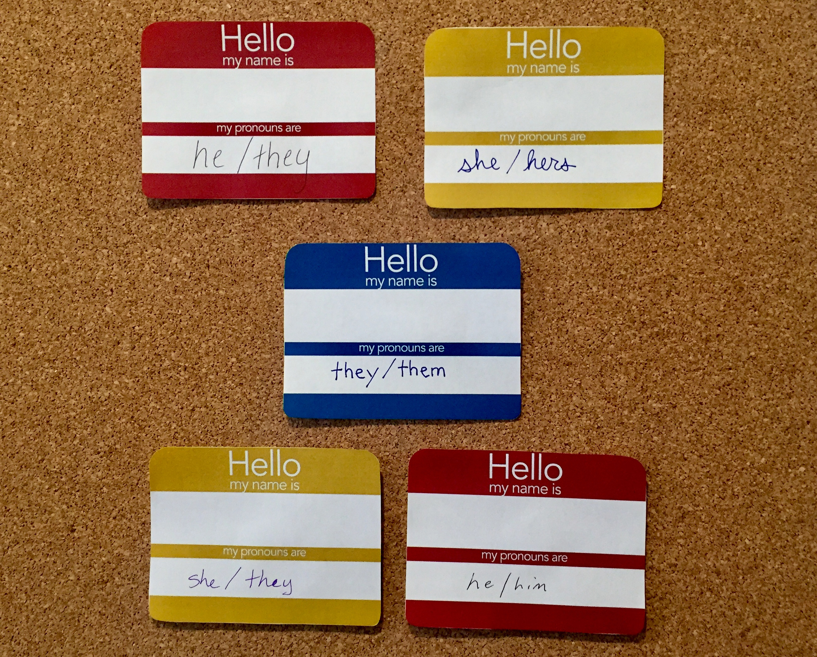 In professional contexts like conferences and classrooms, providing a space for participants to identify their pronouns has become an easy way to show respect for others.