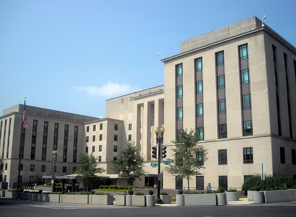 The US Department of State is headquartered in the Harry S. Truman Building in Washington, DC.