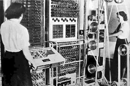The Colossus computer, used to break codes during World War II, 1943. On Wikipedia.