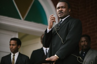 Left to right: André Holland plays Andrew Young, David Oyelowo plays Dr. Martin Luther King, Jr., and Wendell Pierce plays Rev. Hosea Williams in SELMA, from Paramount Pictures, Pathé, and Harpo Films.