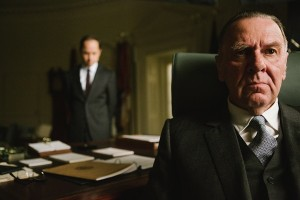 Left to right: Giovanni Ribisi plays Lee White and Tom Wilkinson plays President Lyndon B. Johnson in SELMA, from Paramount Pictures, Pathé, and Harpo Films.