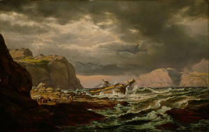 Shipwreck on the Coast of Norway, by Johan Christian Dahl, 1832.