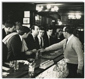"Julius Bar, established in the 19th century and still extant, was the site of a 1966 ""sip-in"" sponsored by the Mattachine Society after a bartender refused to serve gay patrons. Photo: Fred McDarragh"