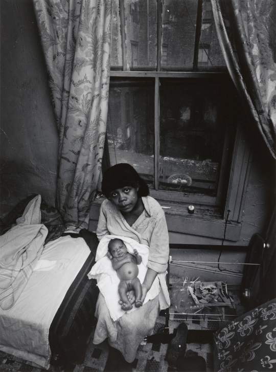 Bruce Davidson, Woman with Newborn on Lap, between 1966 and 1968. The Phillips Collection, Washington, DC.
