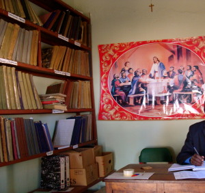 A church archive in Angola, 2011. Photo by Marcia Schenck.