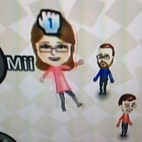 My Mii... or a visualization, courtesy of Wii, of myself as I learn new digital skills, at times a confusing experience.