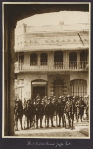 First British Guard, Jaffa Gate, 1917. Credit: Library of Congress.