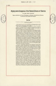 The first page of the Voting Rights Act of 1965.