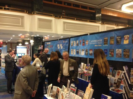 The Cambridge University Press booth at the 2015 AHA annual meeting.