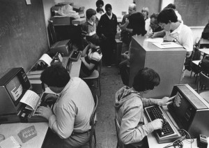 Early computer class instruction (1982). Credit: Los Angeles Public Library Photo Collection