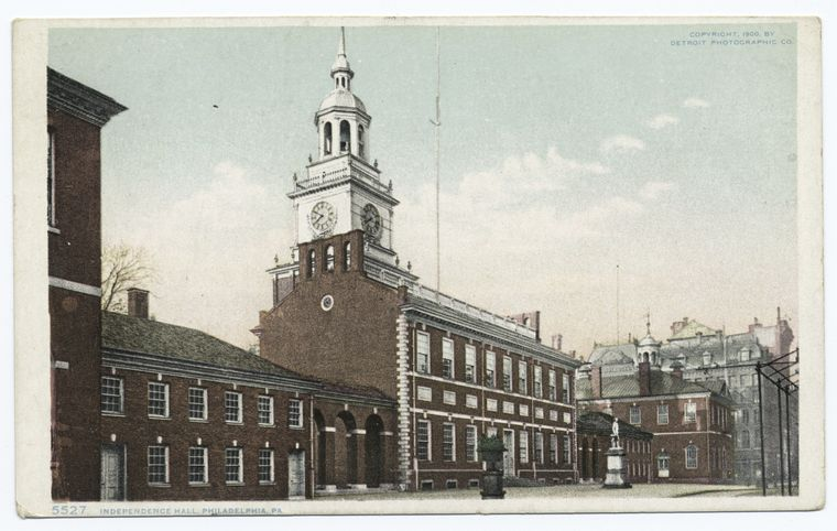 """Independence Hall, Philadelphia, PA."" The Miriam and Ira D. Wallach Division of Art, Prints and Photographs: Photography Collection, The New York Public Library."