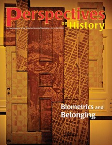April issue of Perspectives on History