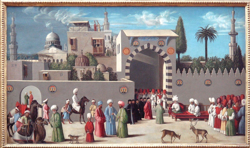 Venetian embassy to the Mamluks in Damascus in 1511, workshop of Giovanni Bellini.