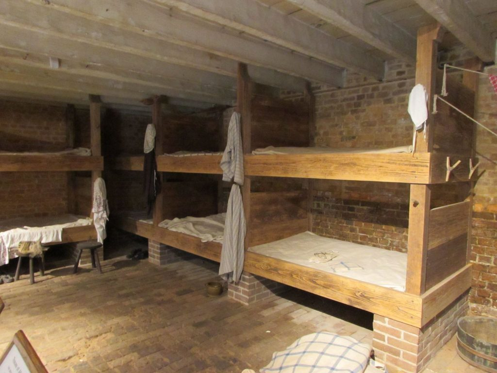 "Slave quarters at Mount Vernon; in 1787, Washington replaced the ""House for Families"" inhabited by slaves working on the plantation with men's and women's quarters on either side of the greenhouse on the estate. Kritika Agarwal"