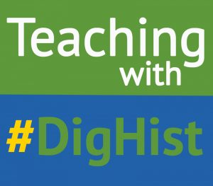 Teaching with #dighist logo