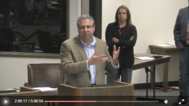 AHA Teaching Division Councilor Trinidad Gonzales (South Texas Coll.) testified in front of the Texas State Board of Education on September 13.