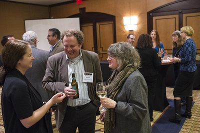 Attendees enjoy the 2016 annual meeting reception for two-year faculty.