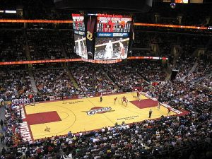Home to the Cleveland Cavaliers, the Quicken Loans Arena in Cleveland, Ohio, also hosted the 2016 Republican National Convention. Wikimedia Commons