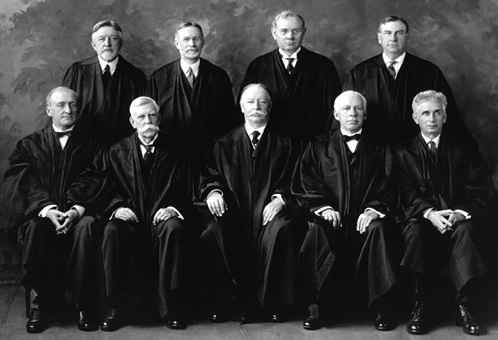 A 1925 photo showing justices of the US Supreme Court. Wikimedia Commons