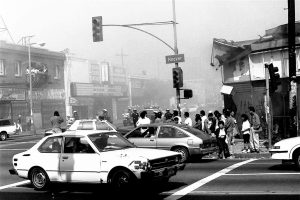 A scene from the streets of Los Angeles, May 1, 1992. Dark Sevier/via Flickr CC-BY-NC 2.0