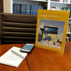 We see you checking your phone in the publications department meeting, Perspectives. That is simply not done at the AHA.