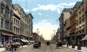 A view of Market Street in Harrisburg, Pennsylvania, 1910.