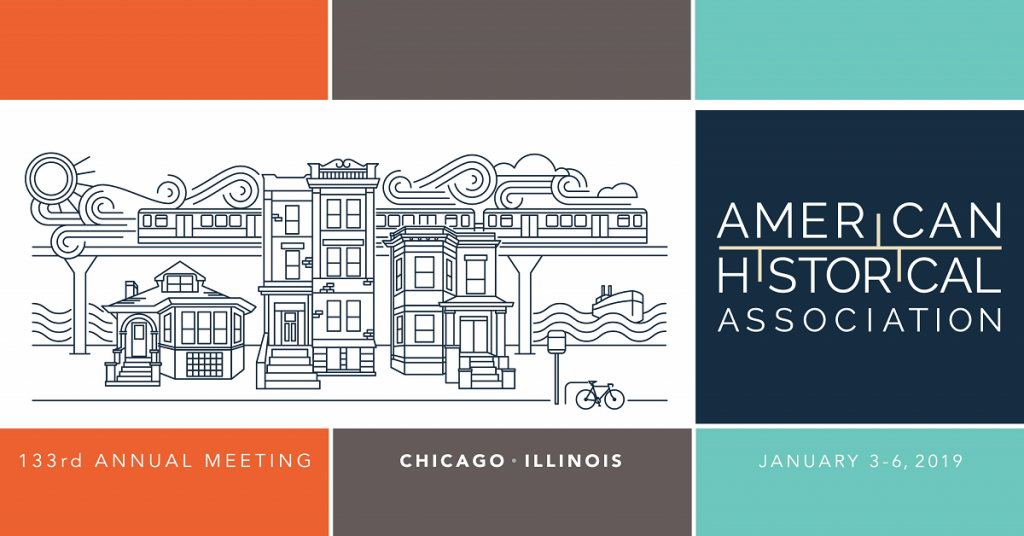 2019 AHA annual meeting logo with information about the meeting which will be held in Chicago, IL, from January 3–6, 2019.