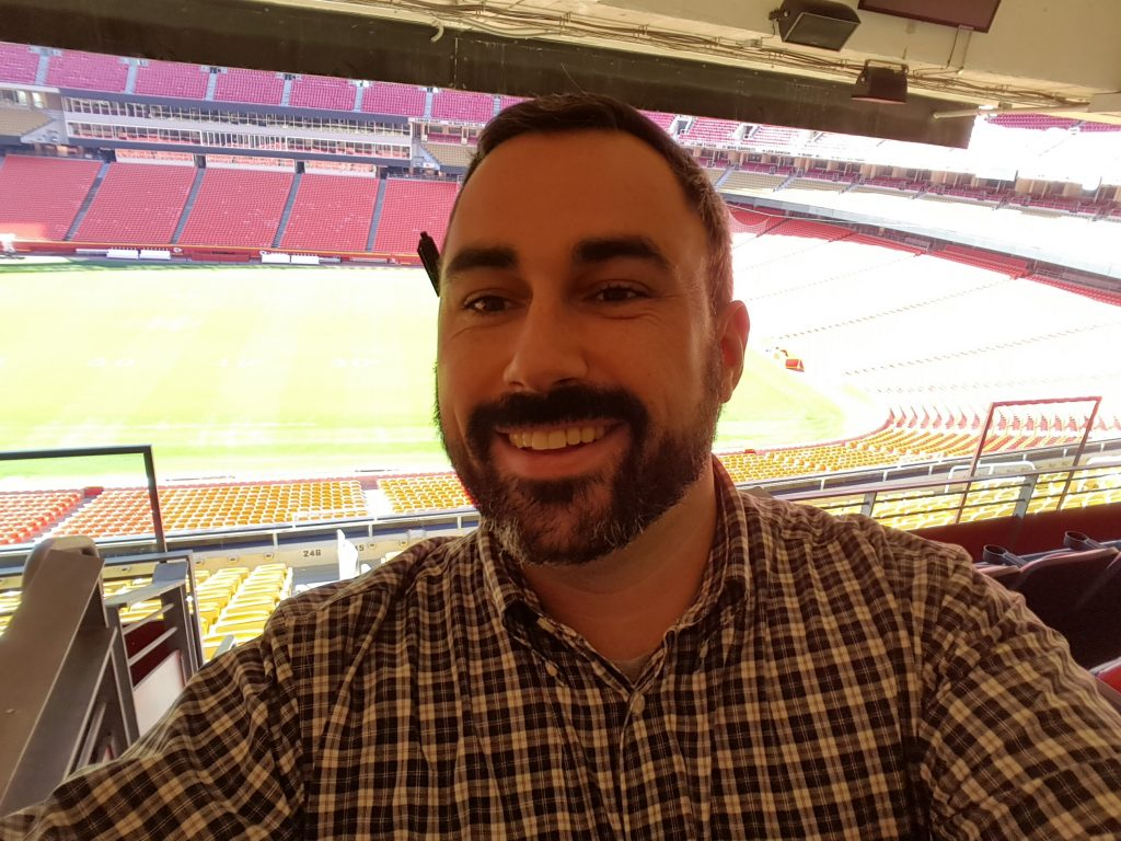 Matthew Reeves at the Kansas City Chiefs football stadium.