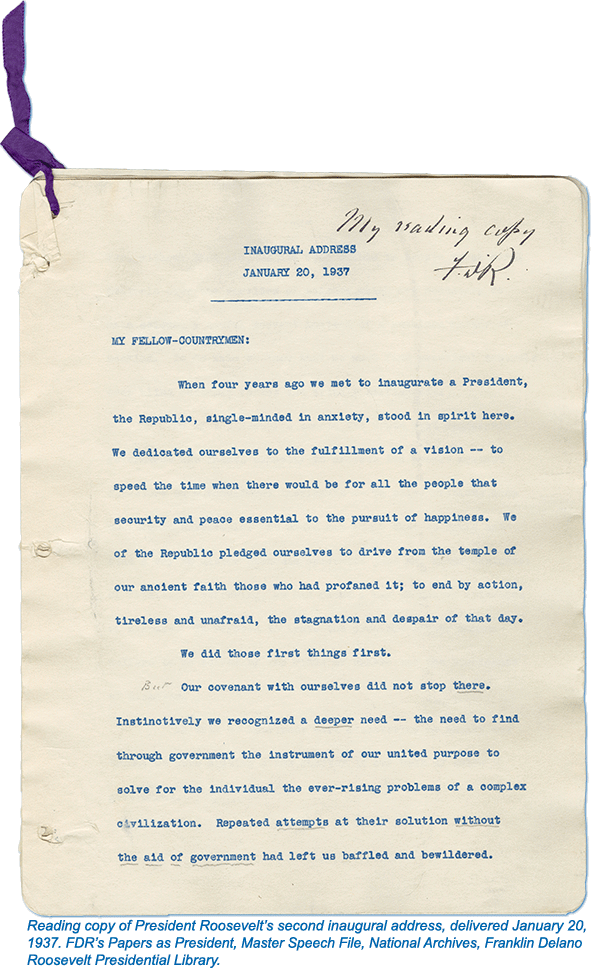 FDR's Second Inaugural Address